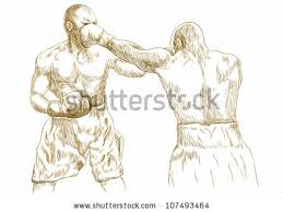 boxing match hand drawn picture sketch stock vector 107493464