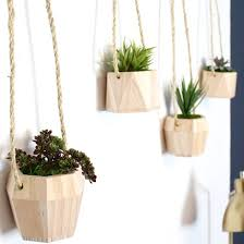 Geometric Hanging Planter by Geometric Wooden Hanging Planters Craftgawker