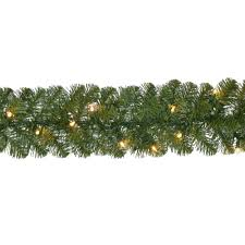 Home Depot Holiday Pay by Home Accents Holiday 18 Ft Pre Lit Noble Fir Garland With 100