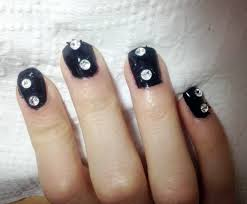 cute stone decoration on nails easy nail art design youtube