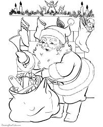 free santa colouring pages funycoloring