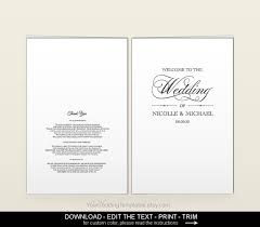 folded wedding program template wedding program template diy printable editable wedding