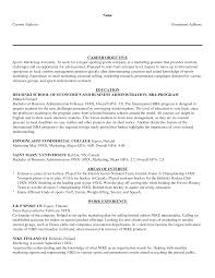 Sports Management Resume Samples by Sports Marketing Resume Free Resume Example And Writing Download