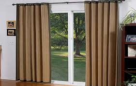 Brown Burlap Curtains Sliding Door Burlap Curtains Also Patio With Regard To Slide Decor