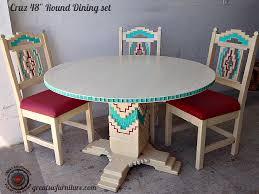 southwestern dining room furniture southwestern dining table cruz southwest style round dining set
