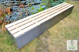 modern garden bench stainless steel contemporary seating