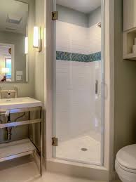 Small Shower Stall by Interior Showers For Small Bathrooms Regarding Leading Small