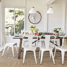 Tolix Dining Chairs Tones White Tolix Chairs Rustic Industrial Wooden