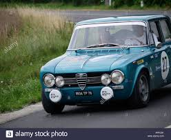 alfa romeo classic metallic blue alfa romeo giulia competing in the boucles de loire