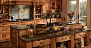 cabinet rustic farmhouse kitchen with barn wood details
