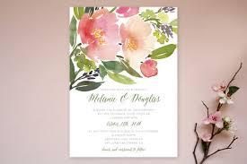 watercolor wedding invitations watercolor floral wedding invitations invitation crush