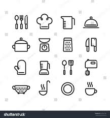 set clean line icons featuring various stock vector 257127160