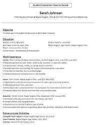 employment resume exles student employment resume exle http resumesdesign