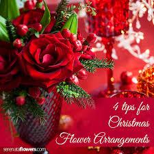 christmas flower arrangements 4 tips for christmas flower arrangements
