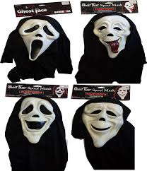 scream scary movie licenced masks halloween fancy dress
