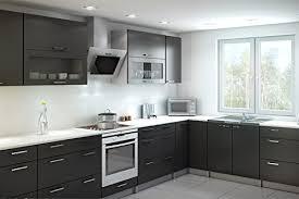 hotte cuisine verticale hotte aspirante maan vertical 400 inox 60cm inox verre noir led