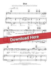 ed sheeran perfect chord original ed sheeran dive sheet music piano notes chords