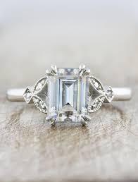 vintage emerald engagement rings greer emerald diamond vintage inspired engagement ring ken