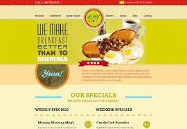16 web design menu food images restaurant website design fast