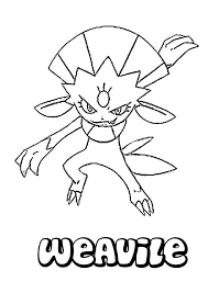 weavile coloring pages hellokids com