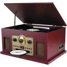 Nostalgic Home Decor Sylvania Srcd838 Nostalgia 5 In 1 Turntable Cd Radio Cassette