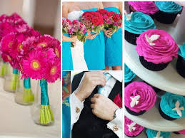 Teal Wedding What Color Matches Fuchsia For Wedding Everafterguide