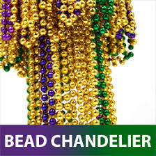 mardi gras bead chandelier party ideas by mardi gras outlet tutorials