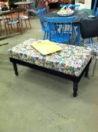 Cribs Mattress Ottoman Made From Coffee Table And Crib Mattress A Few