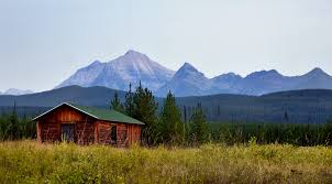 Mountain Backdrop Log Cabin With A Mountain Backdrop Glacier National Park U2026 Flickr