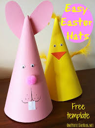 easter bunny hat easy easter craft for kids bunny and chicken easter party hats