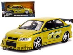 fast and furious evo brian s 2002 mitsubishi lancer evo vii fast furious 1 24 diecast