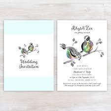 bird wedding invitations bird wedding invitation suite bespoke wedding stationery