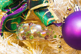 white tree and purple ornaments photograph by sr green
