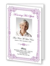 Elegant Funeral Programs Free Funeral Program Border Templates