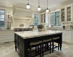 smooth white marble countertop black wooden dining table simple