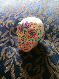 made this sugar skull with crayola air drying clay and decorated