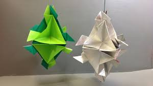 easy origami modular ornament