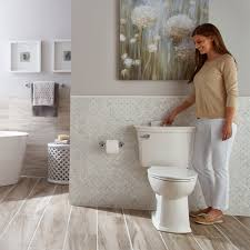 american standard toilets have a powerful flush for a cleaner bowl