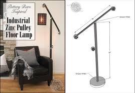 Pottery Barn Floor Lamps Industrial Zinc Pulley Floor Lamp Pottery Barn Knockoff The