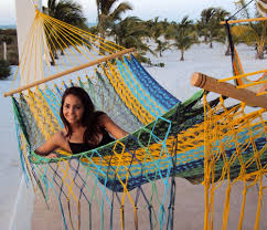 american style multi colored mayan hammock with spreader bar