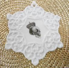 beautiful skull christmas ornament 3 75