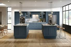 kitchen cabinets with blue doors new not ex display blue shaker kitchen units