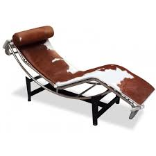 chaise lounge chair le corbusier lc4 brown white