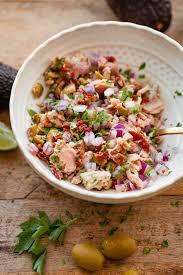 Tuna Salad Mediterranean Style Tuna Avocado Boats A Beautiful Plate