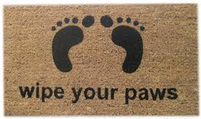 Wipe Your Paws Dog Doormat Imports Decor Wipe Your Paws Door Mat In Door Mats