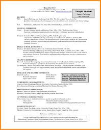 Respiratory Therapist Resume Objective Examples by Speech Pathology Resumes Examples Youtuf Com
