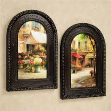 tuscan and italian home decor touch of class the flower market wall art set multi warm set of two