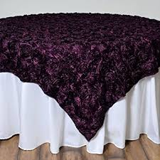eggplant colored table linens amazon com balsacircle 85x85 inch eggplant purple raised roses