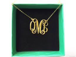 Monogrammed Sterling Silver Necklace Wholesale Sterling Silver Monogram Pendant Necklace Women Real