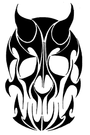 tribal clipart skull pencil and in color tribal clipart skull